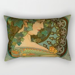 "Alphonse Mucha ""Ivy"" Rectangular Pillow"