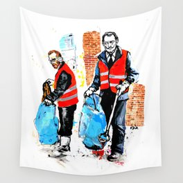Trash Collectors Wall Tapestry