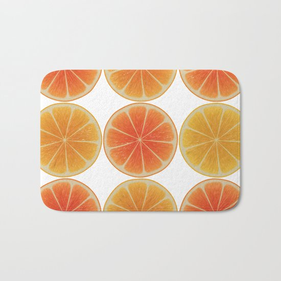 Oranges oranges Bath Mat