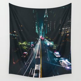 New York City Night Life (Color) Wall Tapestry
