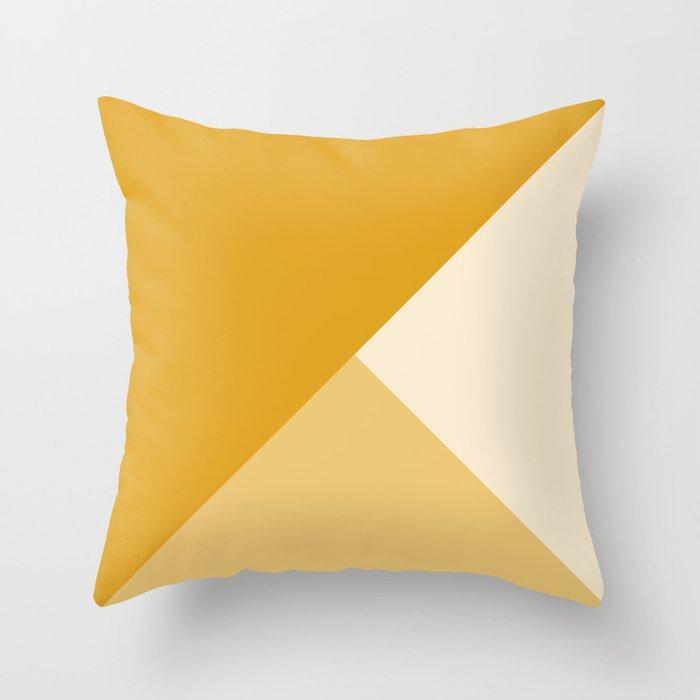 Mustard Tones Throw Pillow