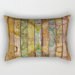 Around the World in Thirteen Maps Rectangular Pillow