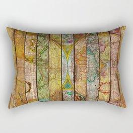 Around the World in Thirteen Maps Rectangular Pillow