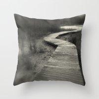 boardwalk empire Throw Pillows featuring Boardwalk by Curt Saunier
