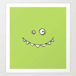 Happy Green Monster Art Print