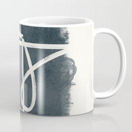 Expression brush stroke on a watercolour background Coffee Mug