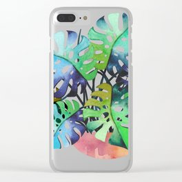 Watercolor Monstera Or One Fine Swiss Cheese Plant Clear iPhone Case