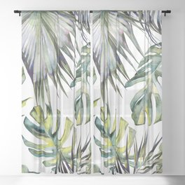 TROPICAL GARDEN 2 Sheer Curtain