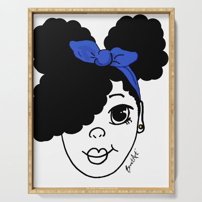 Little Black Girl Magic Serving Tray