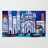 venice Area & Throw Rugs featuring Venice by Theresa Giolzetti