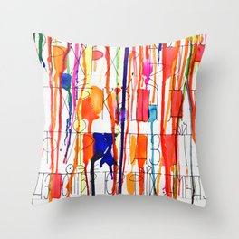 Bow Down Mister Throw Pillow
