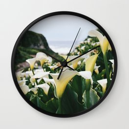 In the Flowers Wall Clock