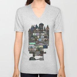 Hogwarts a dollhouse Unisex V-Neck