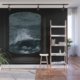 Wave out of a window of a ship – Minimalist Oceanscape Wall Mural
