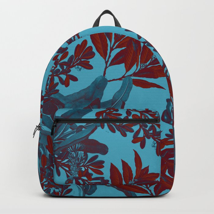 Blue Forest and Red Leaves Backpack
