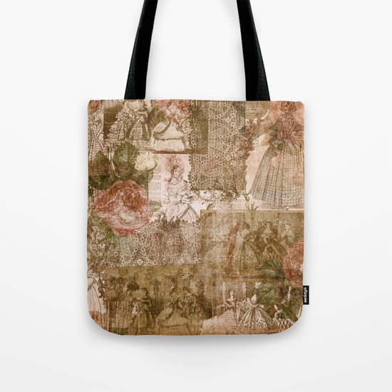 Vintage & Shabby Chic- Victorian ladies pattern Tote Bag