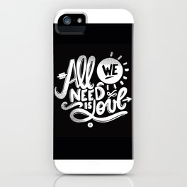 ALL WE NEED IS SOUL iPhone Case