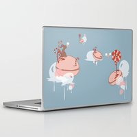 "macaroon Laptop & iPad Skins featuring Macaroon Heaven by Barbora ""Mad Alice"" Urbankova"