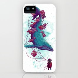 Whale Balloons iPhone Case