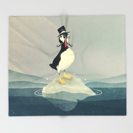 Lord Puffin Throw Blanket