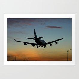 747 Sunset Landing Art Print