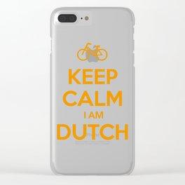 KEEP CALM I AM DUTCH Clear iPhone Case