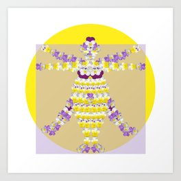 Woman of Violets Art Print