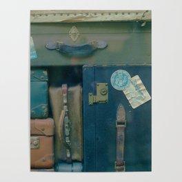 Vintage Suitcases (Color) Poster
