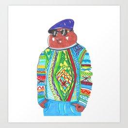 Biggie (aka Cleveland) Wearing Coogi Art Print