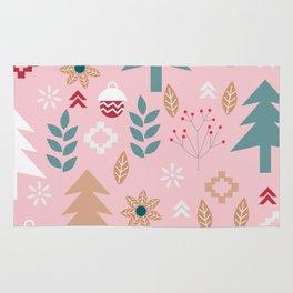 Cute Christmas in pink Rug