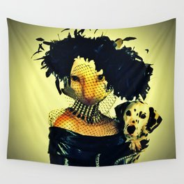 Cruella cat Wall Tapestry