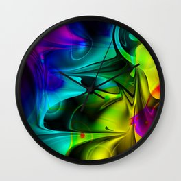 Multicoloured 1 Wall Clock