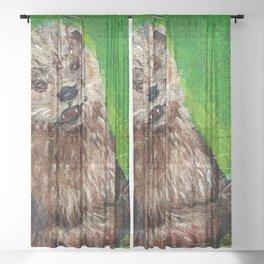 Playtime for Otter Sheer Curtain