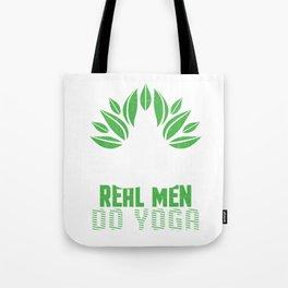 Real Men Do Yoga Green Leaf Tote Bag