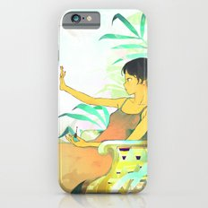 Woman painting a manicure Slim Case iPhone 6s