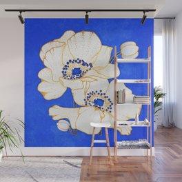 Ultramarine Blue :: Anemones Wall Mural