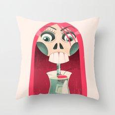 The Deadliest Sip Throw Pillow