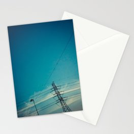 Lines and the sky Stationery Cards