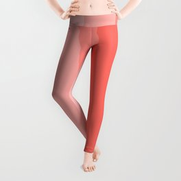 Cool Geometric Living Coral Gradient abstract Leggings