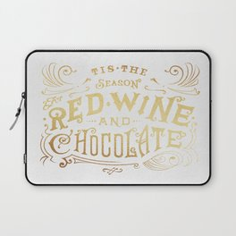 Tis the Season for Red Wine and Chocolate – White Laptop Sleeve