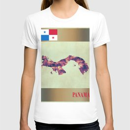 Panama Map with Flag T-shirt