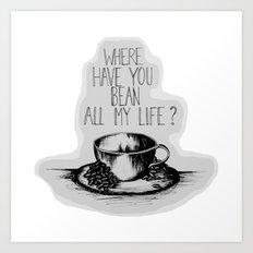 Long Lost Coffee Art Print
