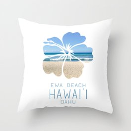 Ewa Beach  Throw Pillow