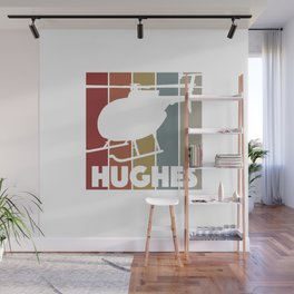 Hughes Pilots Vintage Helicopter For Men Wall Mural