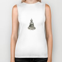 buddha Biker Tanks featuring Buddha by Fine Art by Rina