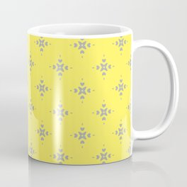 Ornamental Pattern with Lemon and Grey Yellow Colourway Coffee Mug