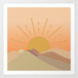 ombre sun  Art Print