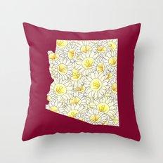 Arizona in Flowers Throw Pillow