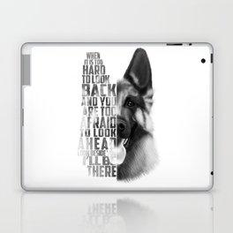 German Shepherd Quote Text Laptop & iPad Skin