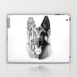 German Shepherd Quote Text Laptop & iPad Skin